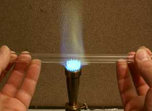 Bending Glass Tubing Over Burner